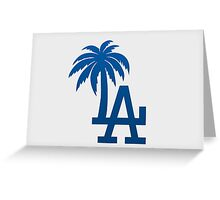 Los Angeles Dodgers Tropical Logo Greeting Card