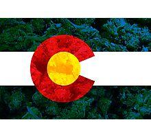 Colorado Chronic Flag Photographic Print