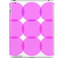 Pink and Purple Circles iPad Case/Skin