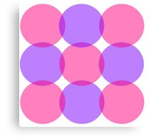Pink and Purple Circles Canvas Print