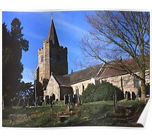 St. Mary`s Church, Lamberhurst, Kent. Poster