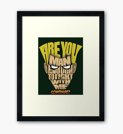 Guile Wins Framed Print