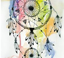 Watercolor Tumblr Dreamcatcher by dreamcatching