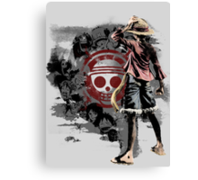 Straw Hats Canvas Print