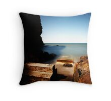 Disused Slipway at Staithes, N. Yorkshire Throw Pillow