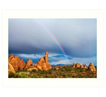 Utah Rainbow Art Print