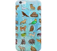 Extinct Animals ABCs iPhone Case/Skin