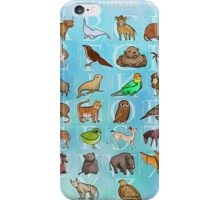 Extinct Animals ABCs iPhone Case/Skin