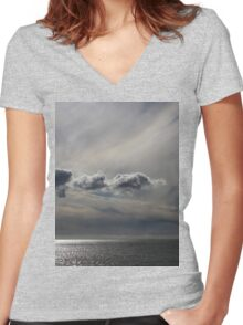 Painted Clouds Women's Fitted V-Neck T-Shirt