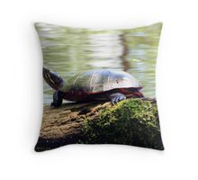 Lazing on a Log Throw Pillow