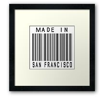 Made in San Francisco Framed Print