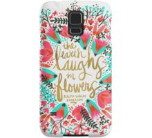 The Earth Laughs in Flowers – Pink & Gold Samsung Galaxy Case/Skin