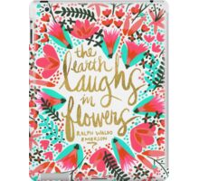 The Earth Laughs in Flowers – Pink & Gold iPad Case/Skin