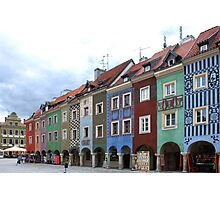 Colorful houses in Poznan - Poland Photographic Print