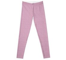 Hearts Everywhere - violet, pink and light blue Leggings