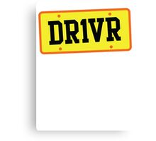 DR1VER (DRIVER) driving licence plate Canvas Print