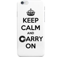 Keep Calm Carry On Calgary Black iPhone Case/Skin
