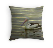 Yellow Pelican Throw Pillow
