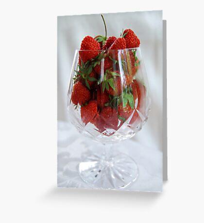 Fresh Strawberries Greeting Card