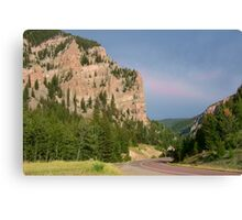 Wyoming Highway at Sunset Canvas Print