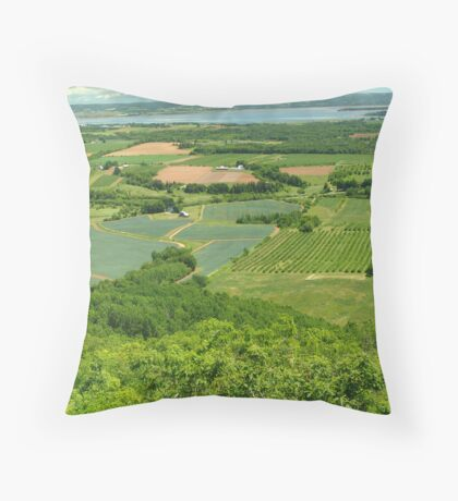 The Green Fields of Home Throw Pillow