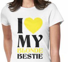 I Love My Blonde Bestie - I Love My Brunette Bestie Couples Design Womens Fitted T-Shirt