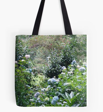 Hydrangea path - June's Garden Tote Bag