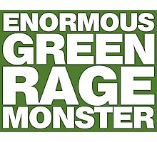 Enormous Green Rage Monster Photographic Print