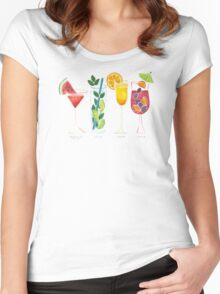 Summer Cocktail Trio Women's Fitted Scoop T-Shirt