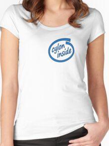Cylon Inside Women's Fitted Scoop T-Shirt