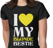 I Love My Blonde Bestie - I Love My Brunette Bestie Couples Design Womens Fitted T-Shirt