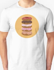 Donuts Stacked on Yellow T-Shirt