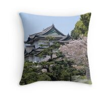 Japanese Palace Throw Pillow