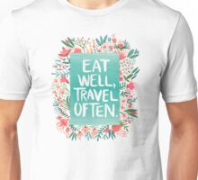Eat Well, Travel Often – Bouquet Unisex T-Shirt