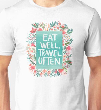 Eat Well, Travel Often – Bouquet Unisex T-Shirt
