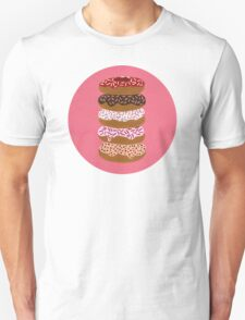 Donuts Stacked on Cherry Unisex T-Shirt