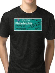 ECW Philadelphia - Hardcore City T shirt Tri-blend T-Shirt