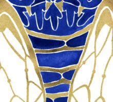 Cicada – Navy & Gold Sticker