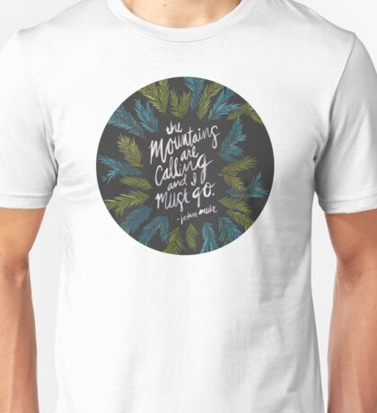 Mountains Calling – Charcoal Unisex T-Shirt