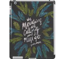 Mountains Calling – Charcoal iPad Case/Skin