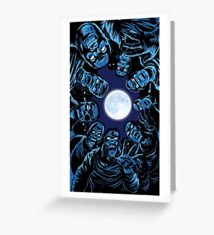 moonlight zombies... Greeting Card