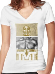 """Floyd """"Money"""" Mayweather Women's Fitted V-Neck T-Shirt"""