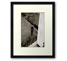 Doorway Beads Framed Print