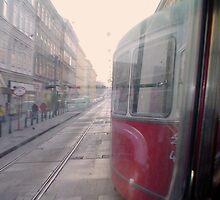 Tram through Vienna by daynov