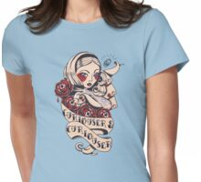 Curiouser Alice  Womens Fitted T-Shirt