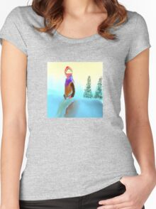 Woman in the Snow Women's Fitted Scoop T-Shirt