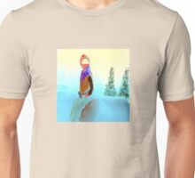 Woman in the Snow Unisex T-Shirt