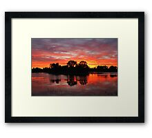 Sunrise Island Newy reservoir Cobar NSW Framed Print
