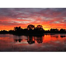 Sunrise Island Newy reservoir Cobar NSW Photographic Print