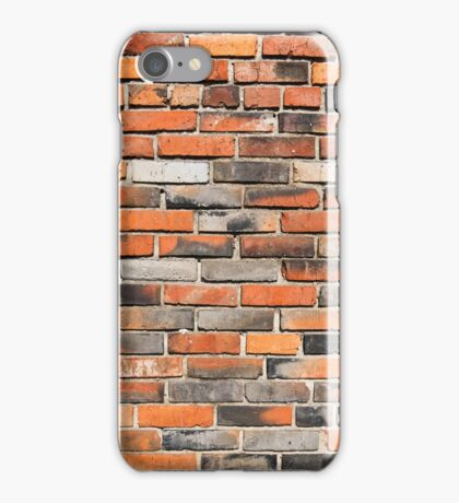 red brick wall  iPhone Case/Skin